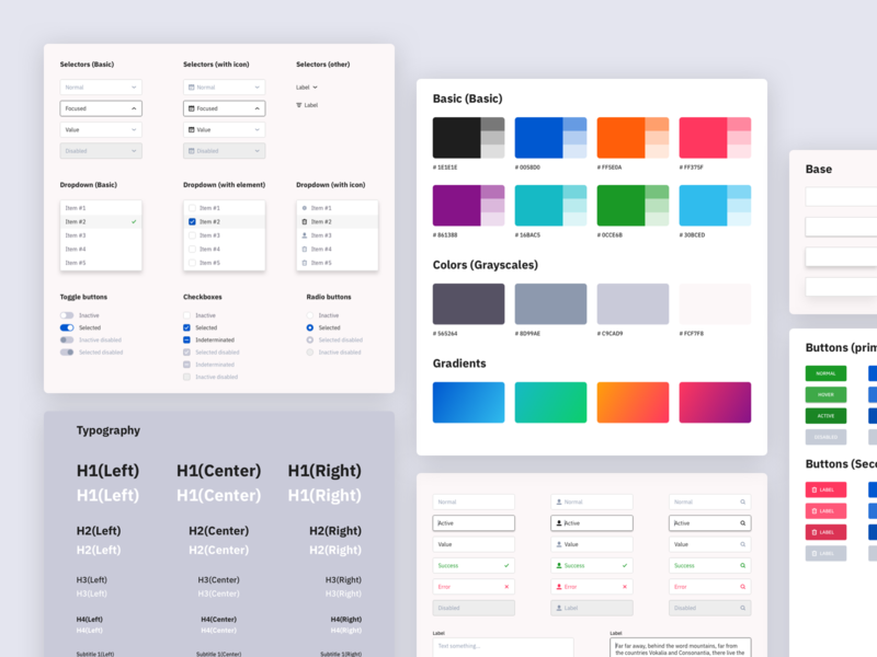 Webdesign style guide 1.0 (Free) by Artyom Khamitov on Dribbble