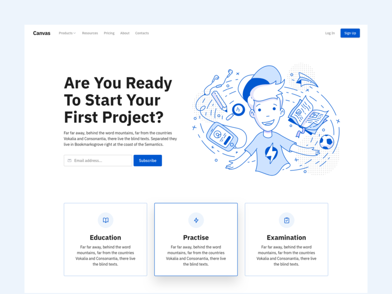 Education Website education website light outline icons outline illustration ux ui