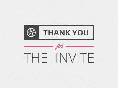 Thank You dribbble thanks thank you invite