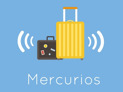 Mercurios ux ui interface android app tracking luggage flight airport