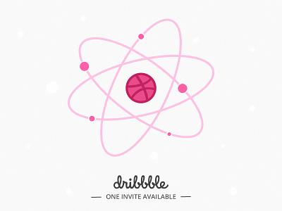 Dribbble Invitation atom science invite invites invitation dribbble