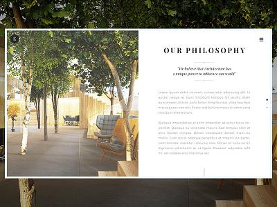 Eden About architecture ui ux clean minimal typography webdesign interior