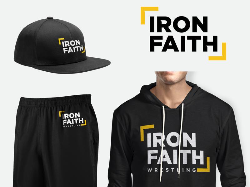Iron faith logo and kit design for Iron Faith wrestling wrestling karate fitness logo health crossfit fitness