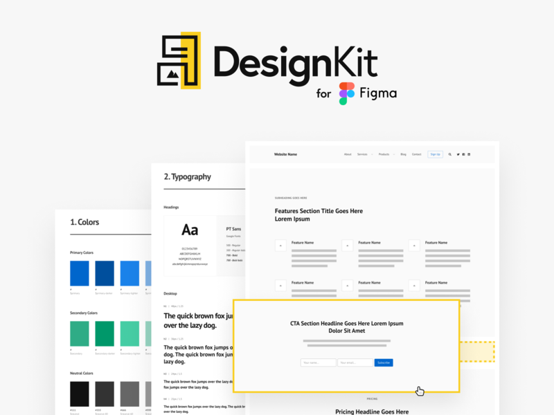 DesignKit design mockups website figma design system style guide styleguide wireframe design wireframe kit wireframes wireframe web design figmadesign