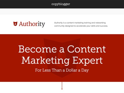 Authority - Sales page