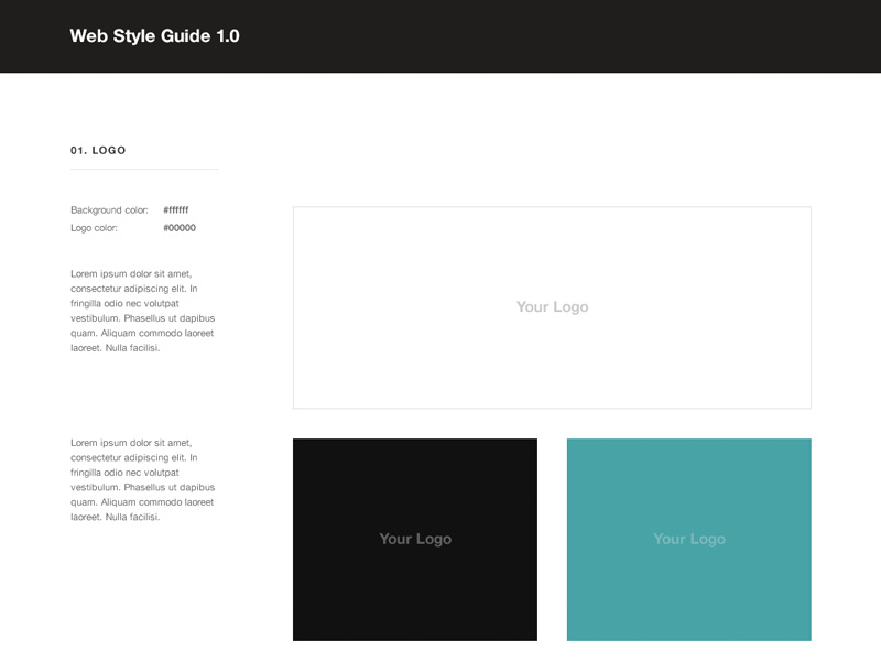 free web style guide psd template by rafal tomal dribbble