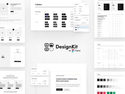 DesignKit for Figma uiux ui web design web design system figmadesign figma wireframe kit wireframe