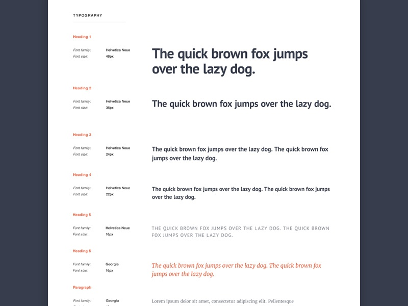 typography style guide by rafal tomal dribbble