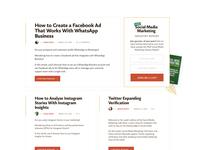 SME blog layout