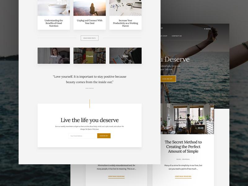 Essence wordpress blog lifestyle theme