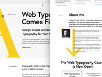 Web Typography course