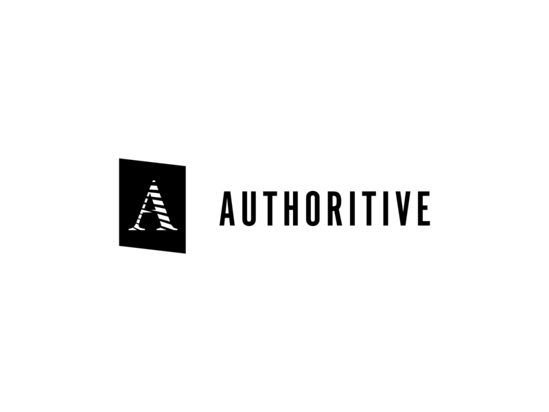 Authoritive #1 minimal typography design branding brand authors author clean white black minimalist logo