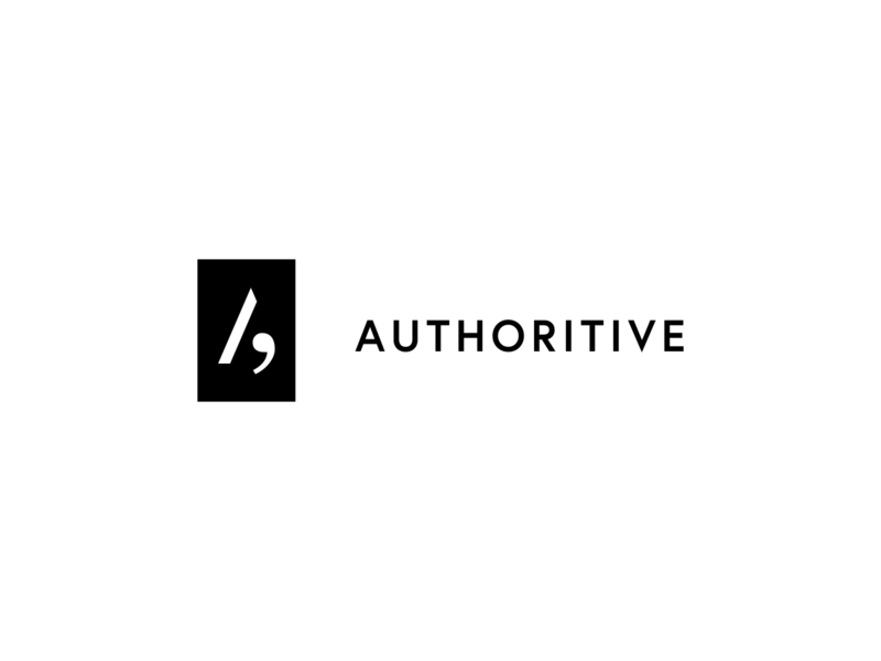 Authoritive #2 branding brand minimal typography clean white black minimalist logo