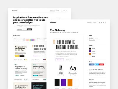 Typespiration.com gallery inspire inspirational inspiration webdesign website web design