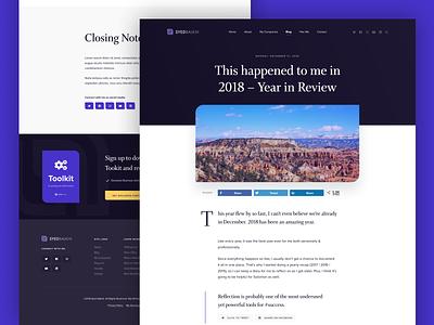 SyedBalkhi.com website purple ui design clean wordpress minimalist blog