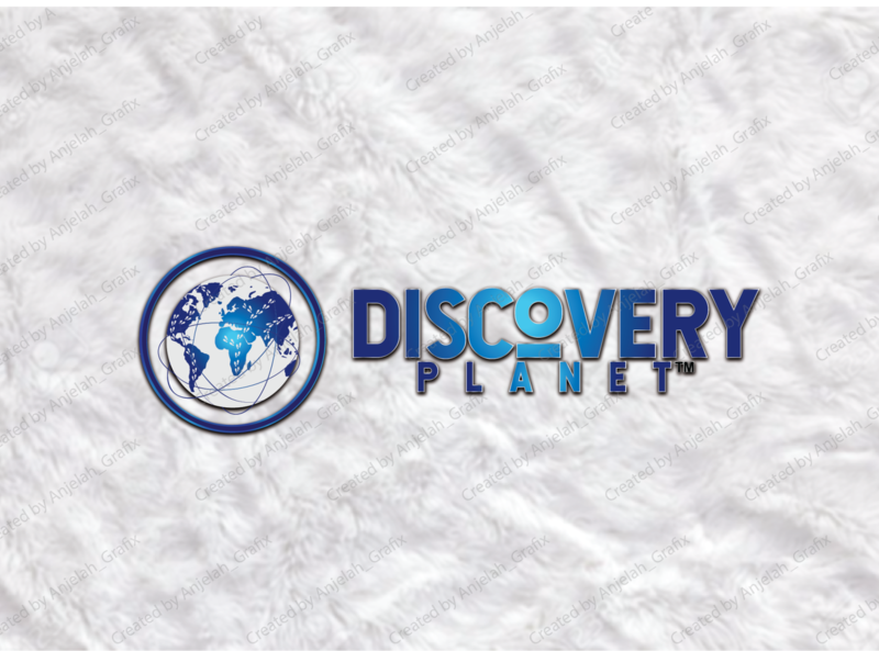 Modern logo design blue and white planet discovery channel world map world minimalist ux ui minimalist logo beautifu logo design minimal flat logo design minimalist design
