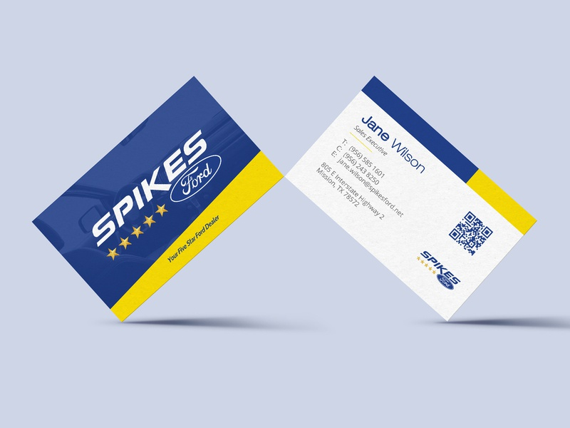 Spikes Ford Business Cards