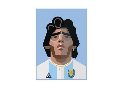 MARADONA fifa napoli argentina soccer football world cup hand of god maradona illustration design