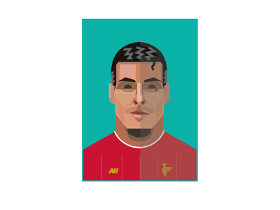 VIRGIL holland liverpool liverpool fc lfc premier league icon illustration soccer design football
