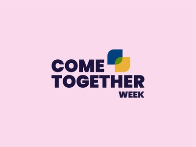 Come Together Week 2020 typography flat design minimal flat illustration flat  design