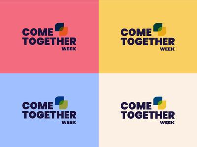 Come Together Week Event | pt. 2 colour palette flat colour typography flat design minimal flat illustration flat  design