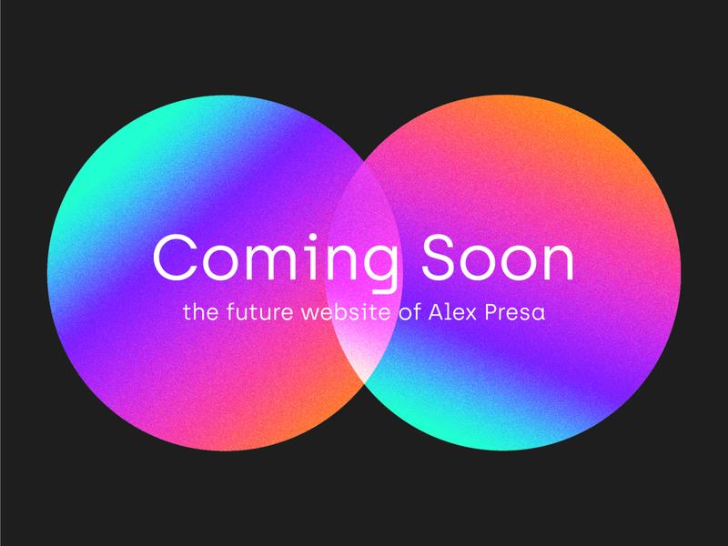 Landing Page for AlexPresa.com colour palette landing page gradient design gradient mesh gradient