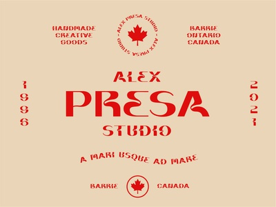 Alex Presa Studio 2021 | Badge Branding logo lockup lockup badgedesign badge logo canada branding badge design design flat  design flat illustration minimal