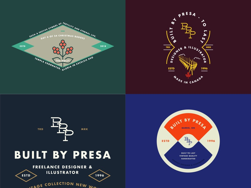 Year In Review - 2018 illustration typography minimal flat  design flat design badge design flat illustration