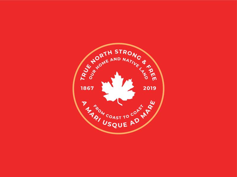 Oh Canada - Badge vector illustration flat minimal flat  design flat illustration design badge design canada