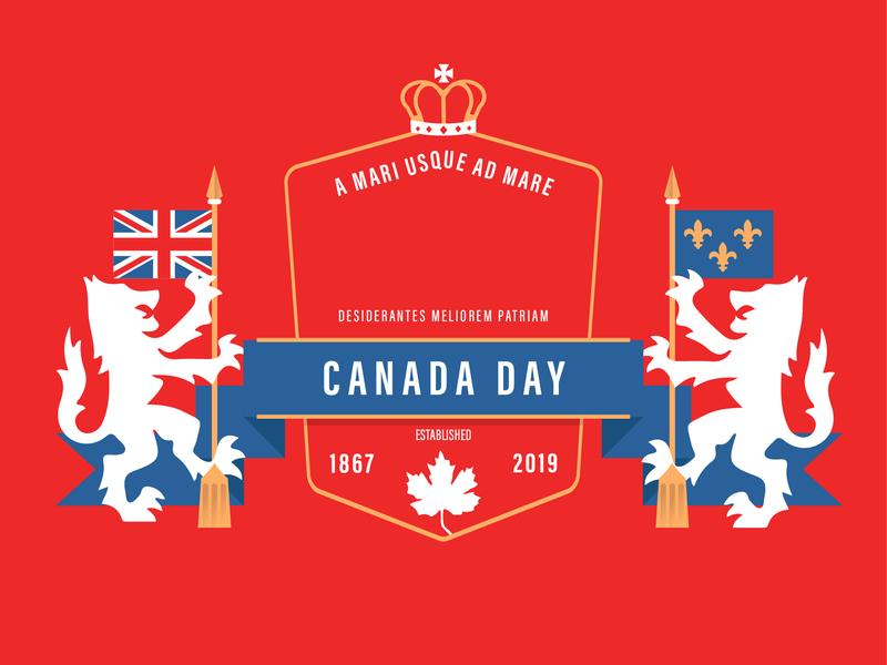 Canada Day Badge | Alternate Version canada badge canada typography illustration badge design minimal flat  design flat design flat illustration