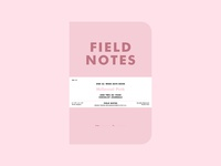 "Field Notes | ""Millennial Pink"""