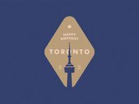 Happy 185th Birthday Toronto - Badge Design