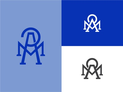 """AMP"" Monogram Concepts badge design design minimal flat  design flat illustration monogram logo monograms"