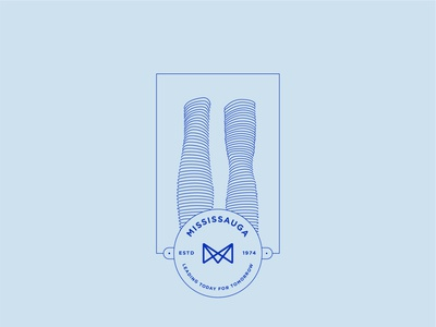 Dribbble Weekly Warm-Up: Mississauga, ON badge design flat  design minimal flat illustration illustration logo sticker weekly warm-up dribbble