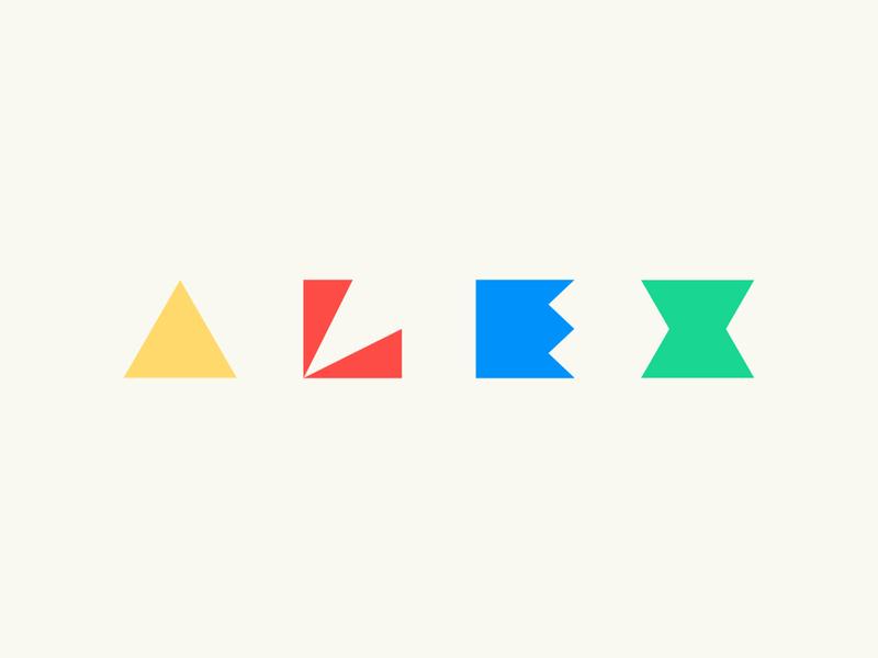 Dribbble Weekly Warmup #5: ALEX typography minimal flat  design flat illustration weekly challenge weekly warm-up dribbble
