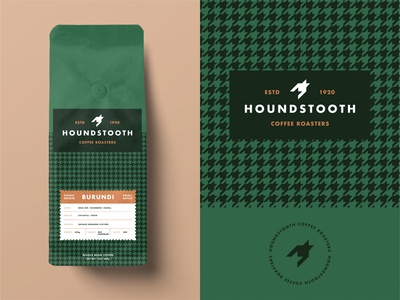 Weekly Warmup: Houndstooth Coffee Roasters flat  design flat illustration coffee logo single origin coffee design coffee packaging coffee