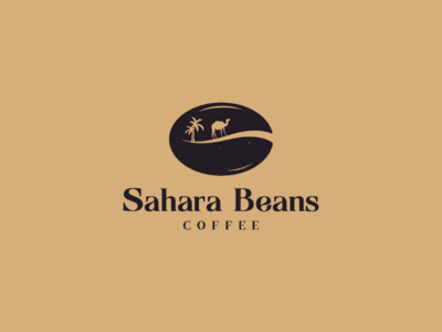 SaharaBeansCoffee Logo sahara brand logodesigns logos illustrator camel coffee illustrations designer branding photoshop adobe