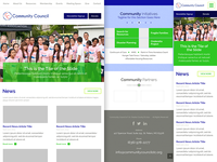 Community Council Responsive Homepage(s)