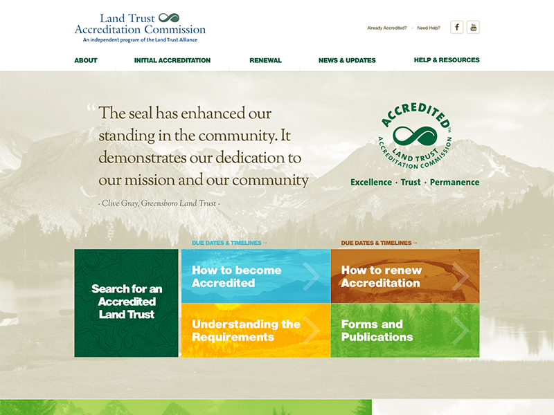 Land Trust Homepage Design web nonprofit cause charity joomla design site homepage template land nature