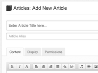 Add New Article Page, Layout Options 2-5