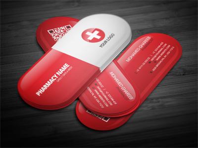 Creative pharmacist business card by mohamed dribbble colourmoves