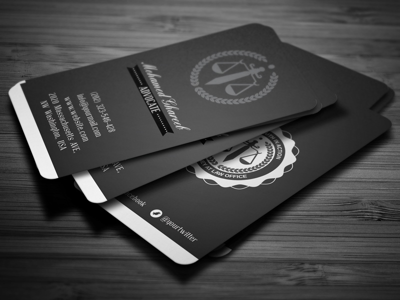 Creative Lawyer Business Card-4 by Mohamed - Dribbble