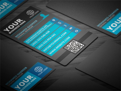 Modern Vertical Business Card Color Set By Mohamed Dribbble - Vertical business card template