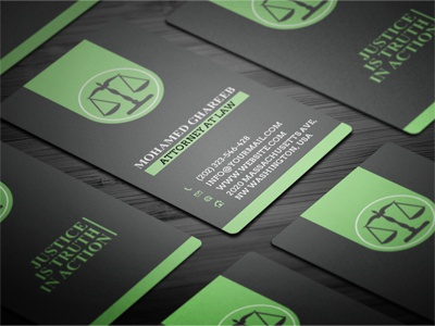 Creative Lawyer Business Card 3 by Mohamed Dribbble