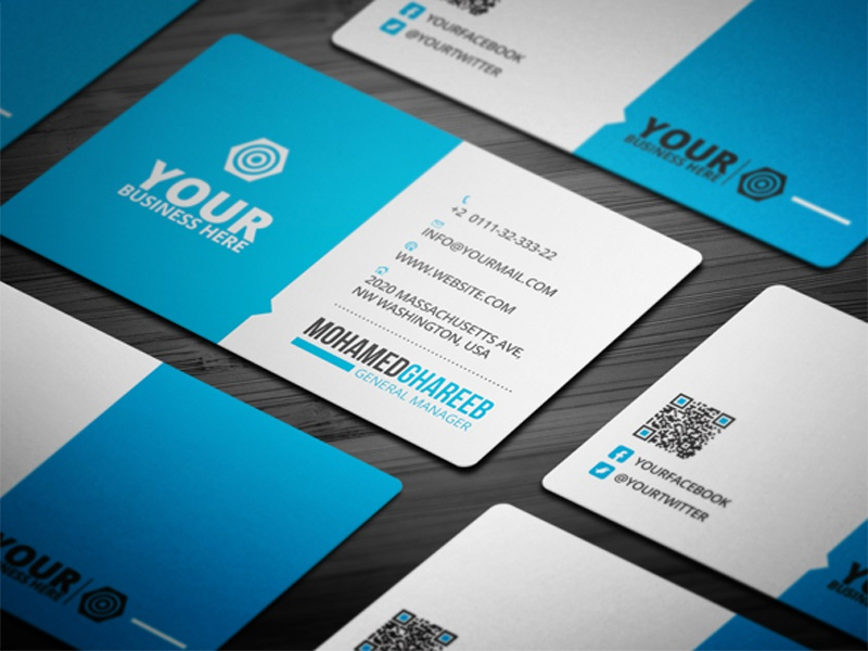Creative Corporate Business Card 26 by Mohamed - Dribbble