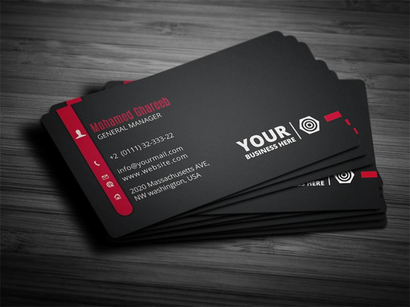 Creative Corporate Business Card 27 by Mohamed - Dribbble