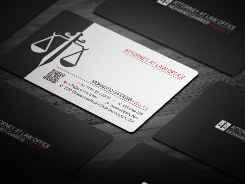 Creative Lawyer Business Card - 2 by Mohamed - Dribbble