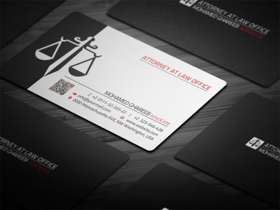Creative Lawyer Business Card 2 by Mohamed Dribbble