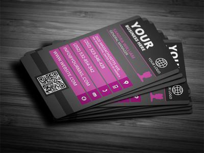 Modern female vertical business card 10 color set by mohamed dribbble colourmoves
