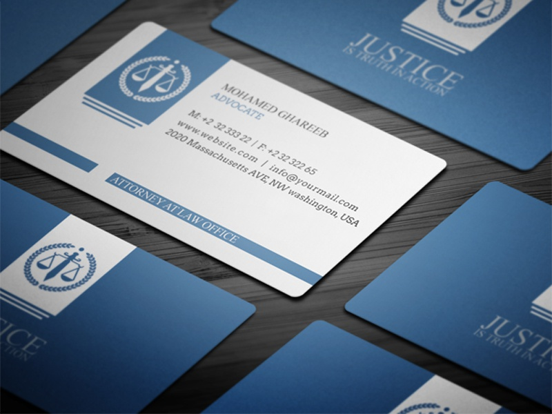 Mohamed Dribbble - Lawyer business card templates